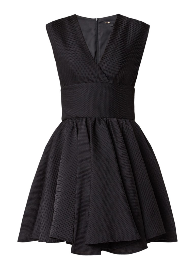 Maje Revely A-lijn mini-jurk met ingeweven structuur zwart