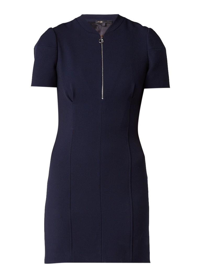 Maje Renyo mini-jurk met rits donkerblauw
