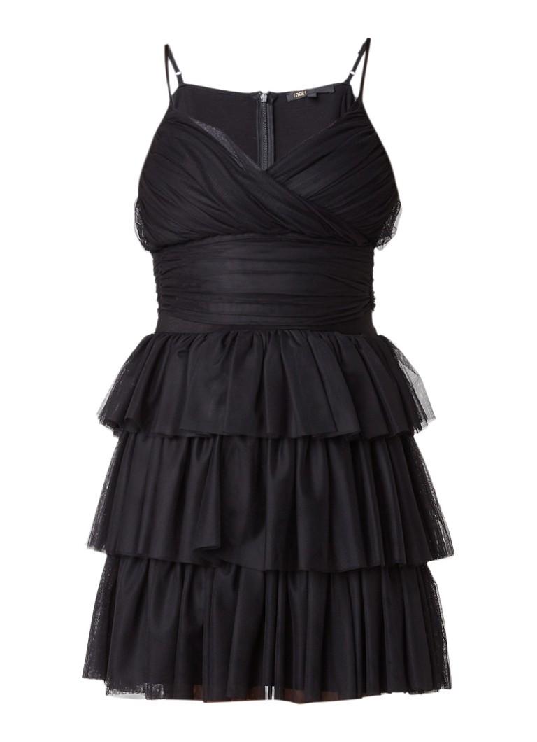 Maje Richard A-lijn jurk van tule zwart