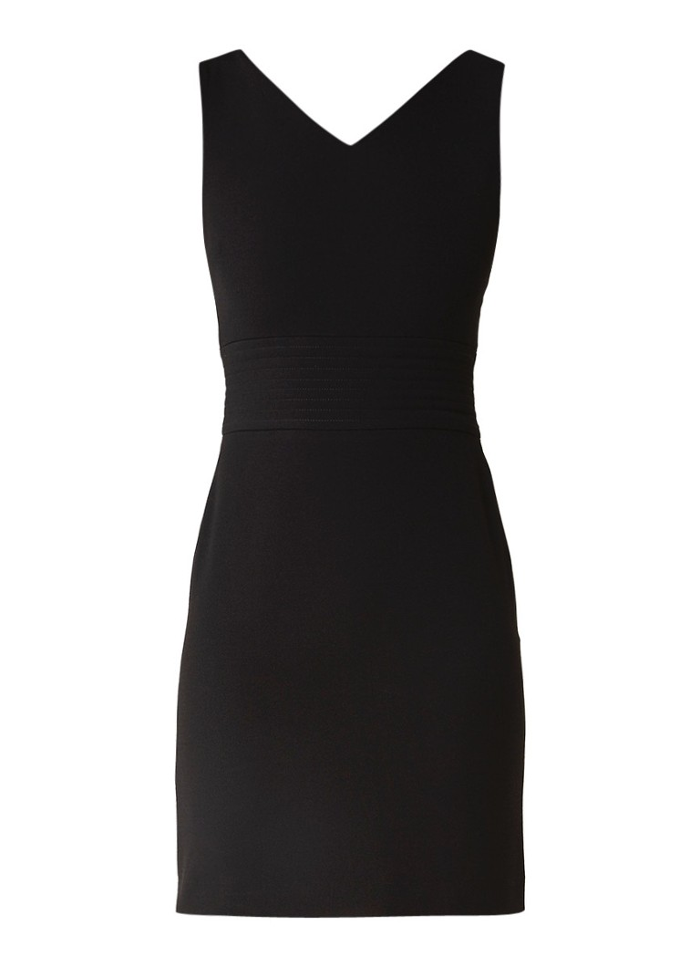 Maje Rhea mini-jurk met detail van ribstructuur zwart