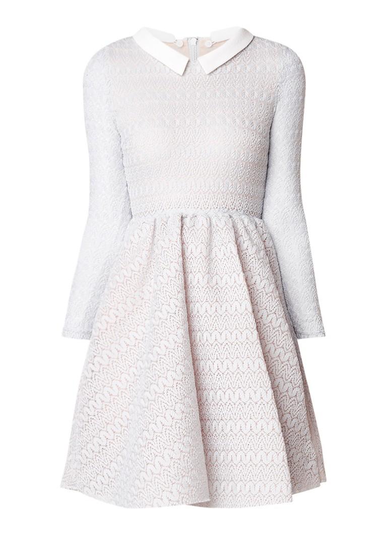 Maje Rayone A-lijn jurk van kant met afneembare kraag mint