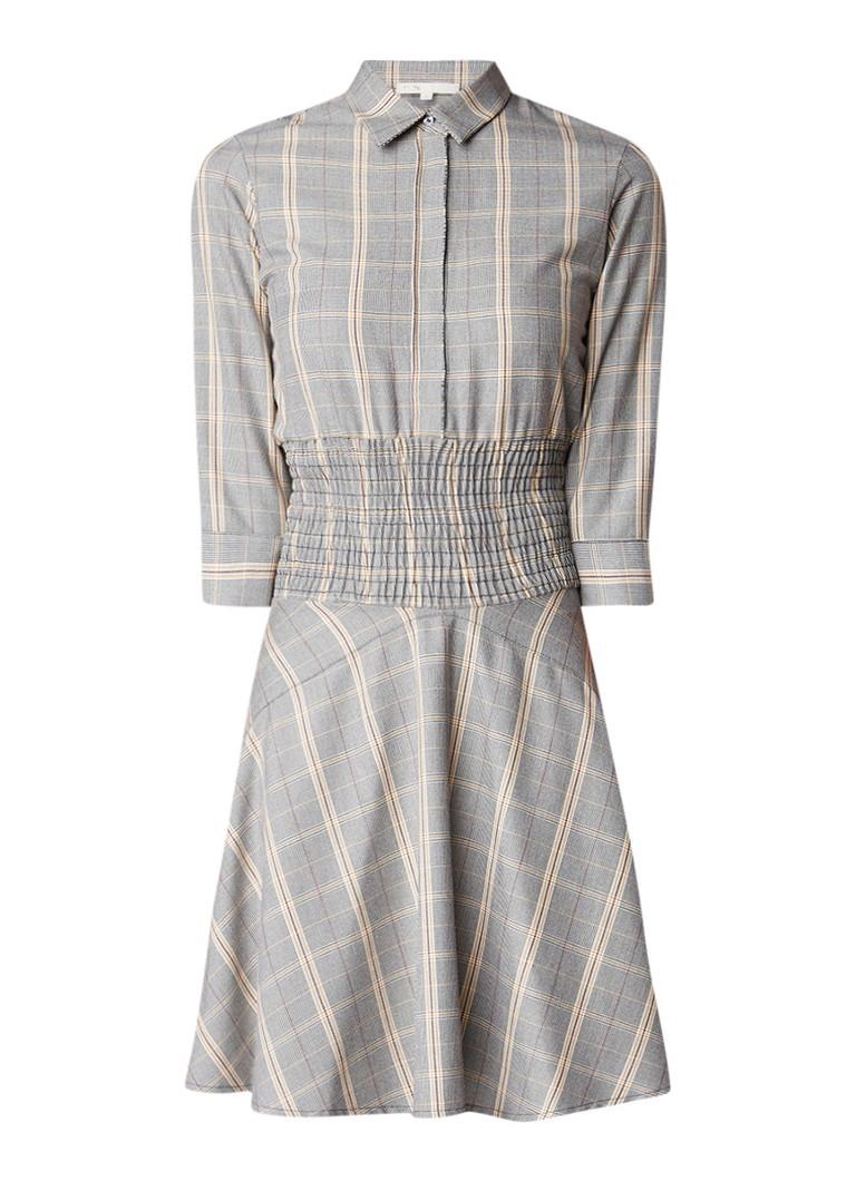 Maje Resha A-lijn jurk met ruitdessin grijs