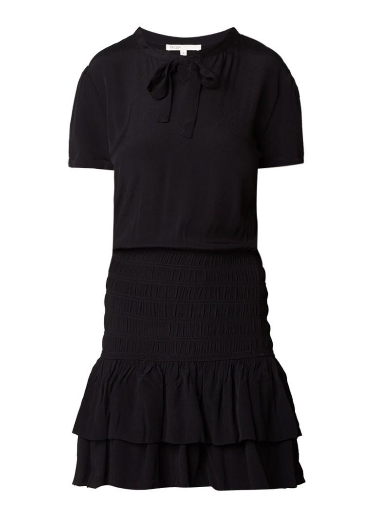 Maje Raboa A-lijn jurk met smockdetail zwart