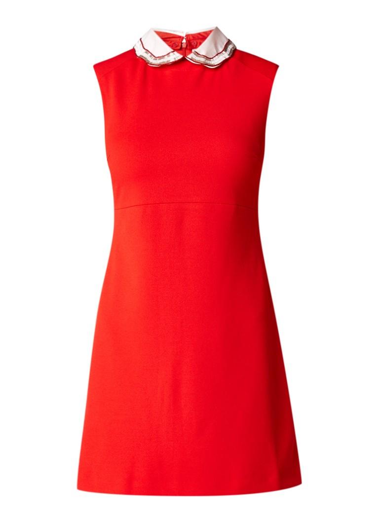 Maje Rangat mini-jurk met afneembare kraag rood