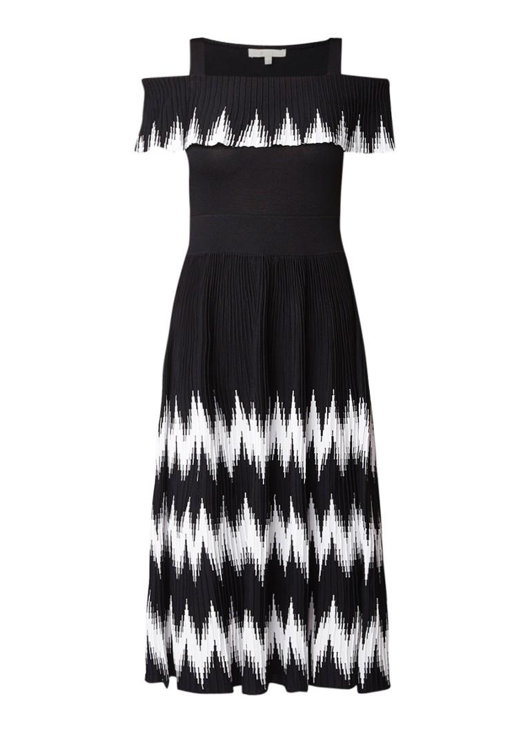 Maje Romani mini-jurk met bloemendessin zwart