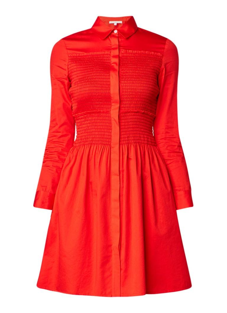 Maje Roumpa A-lijn blousejurk met plooidetail rood