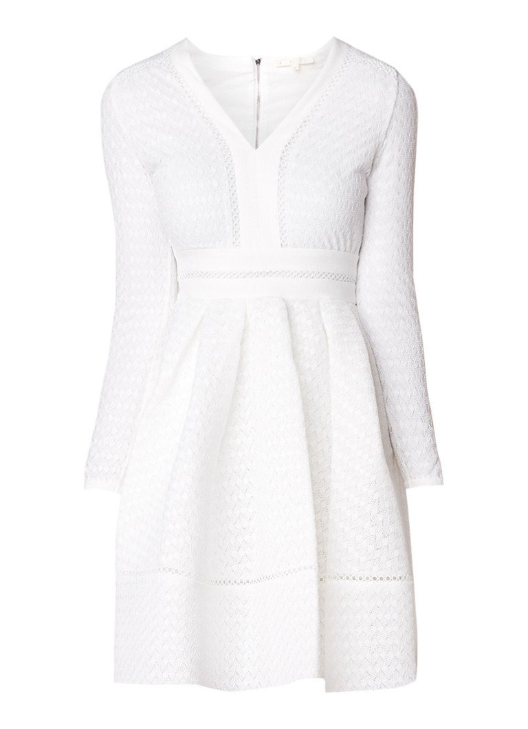 Maje Rossignol A-lijn jurk van kant lichtroze