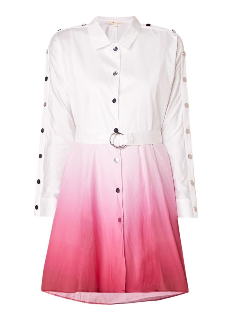 Maje Renalio blousejurk met kleurverloop fuchsia