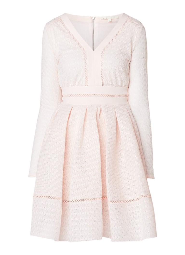 Maje Rossignol A-lijn jurk van kant wit