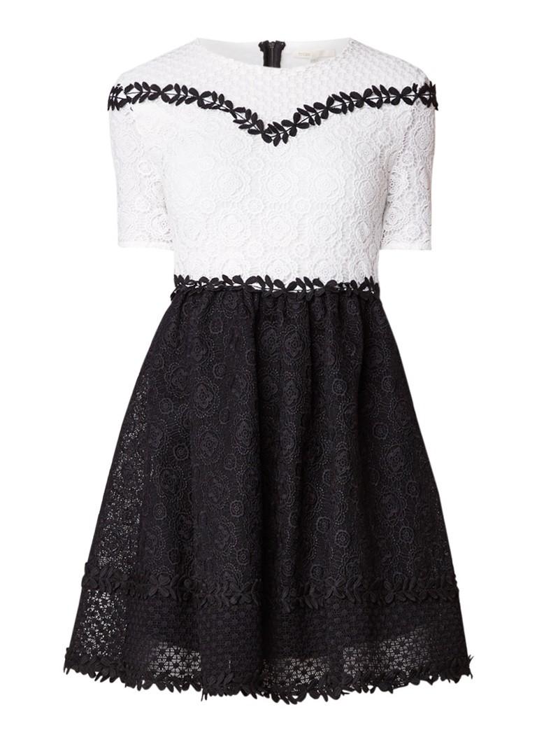 Maje Renald A-lijn jurk van kant zwart
