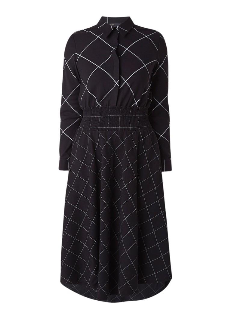 Maje Carreaux blousejurk met ruitdessin zwart