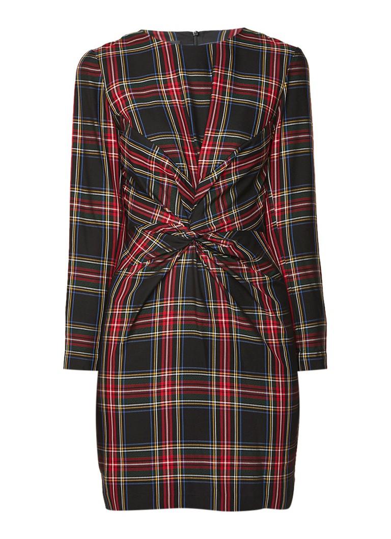 Maje Ripper mini-jurk met geruit dessin multicolor