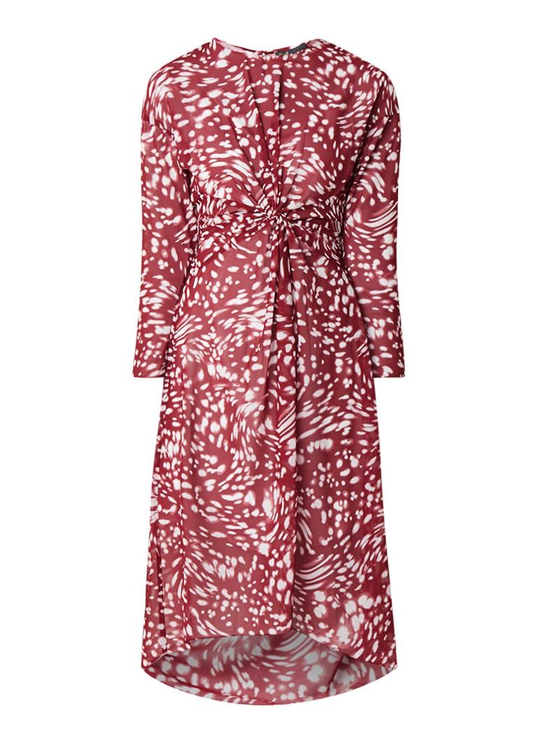 Maje Rivole A-lijn jurk met twist in de taille donkerrood