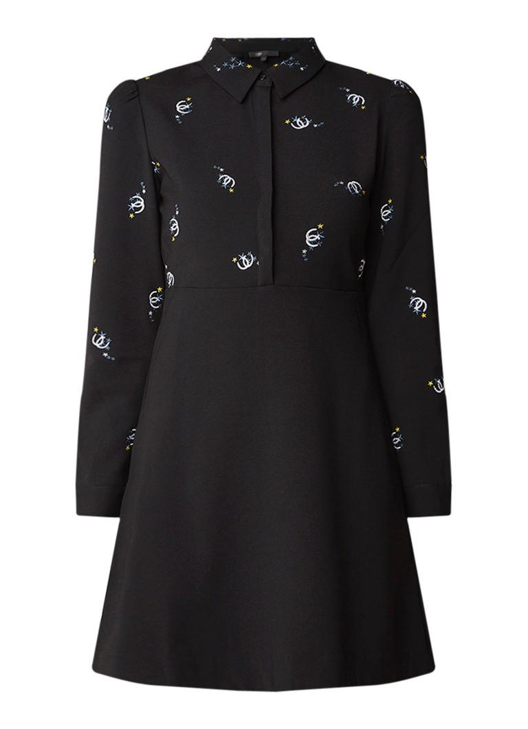 Maje Riwest blousejurk met borduring zwart