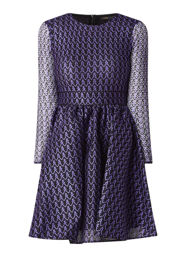 Maje Ravira A-lijn jurk van kant paars