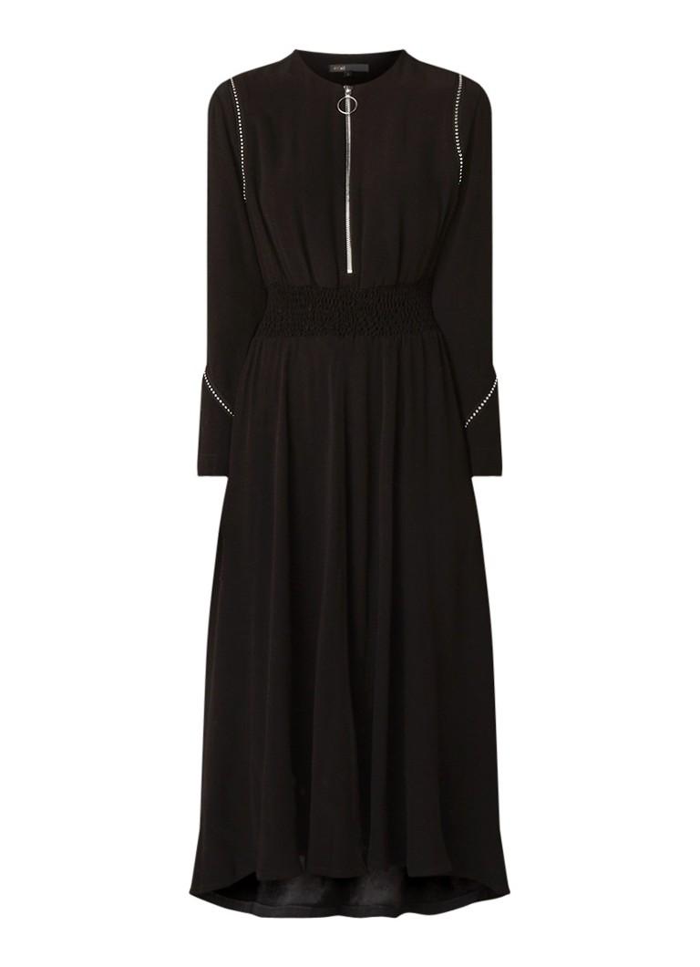 Maje Rimage maxi-jurk van crêpe met studs zwart