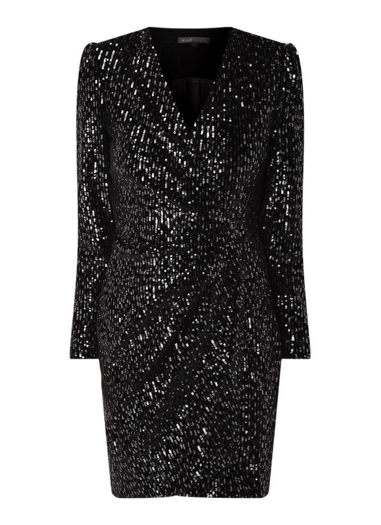 Maje Rivy Glitter mini-jurk met pailletten zwart
