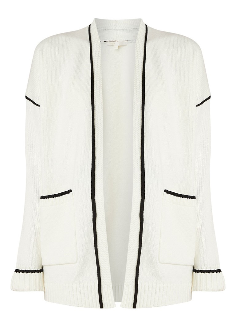 Image of Maje Monia fijngebreid openvallend vest in wolblend