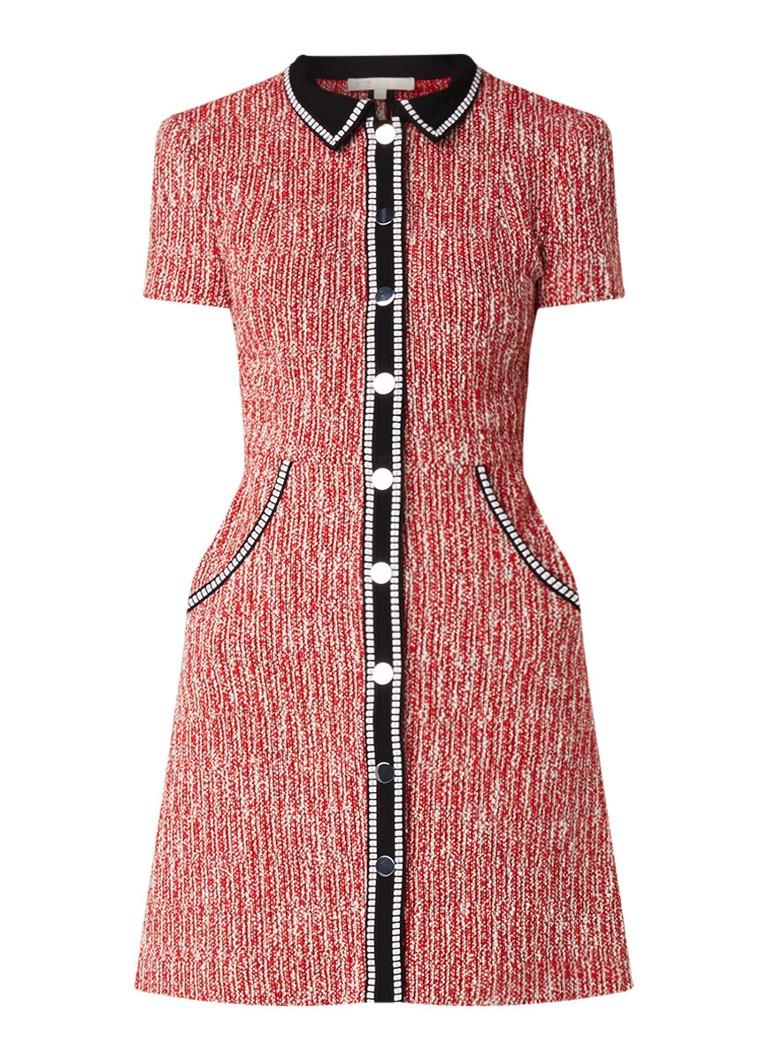 Maje Renati blouse-jurk van tweed rood