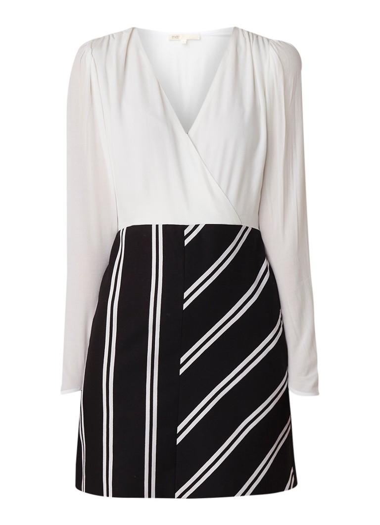 Maje Rolim mini-jurk met overslag gebroken wit