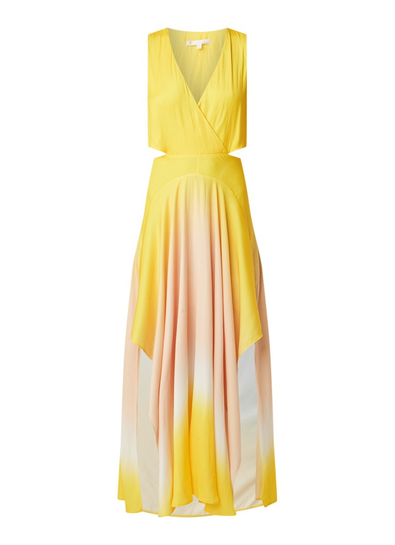 Maje Resia maxi-jurk met ombre kleurverloop en cut-out details maisgeel