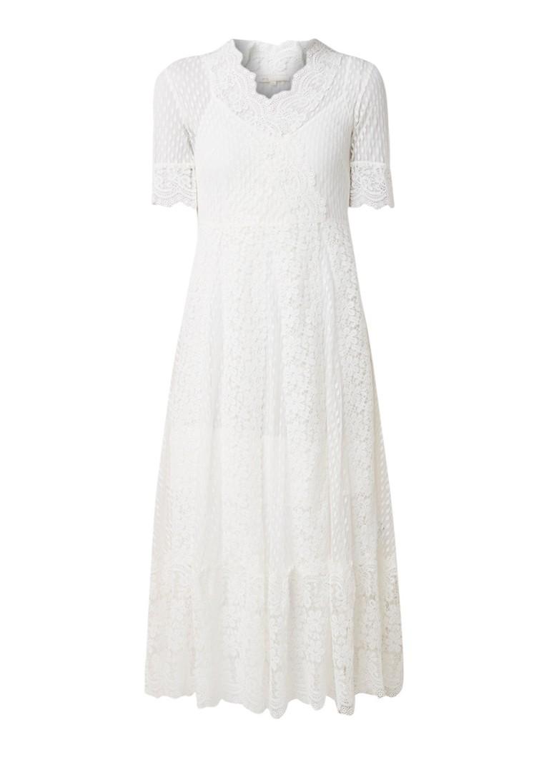 Maje Revanti maxi-jurk van kant wit