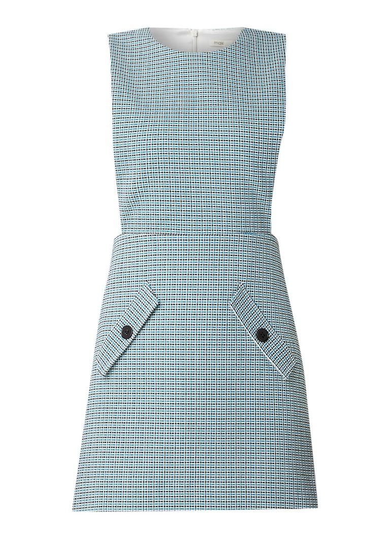 Maje Riopa mouwloze mini-jurk van tweed lichtblauw
