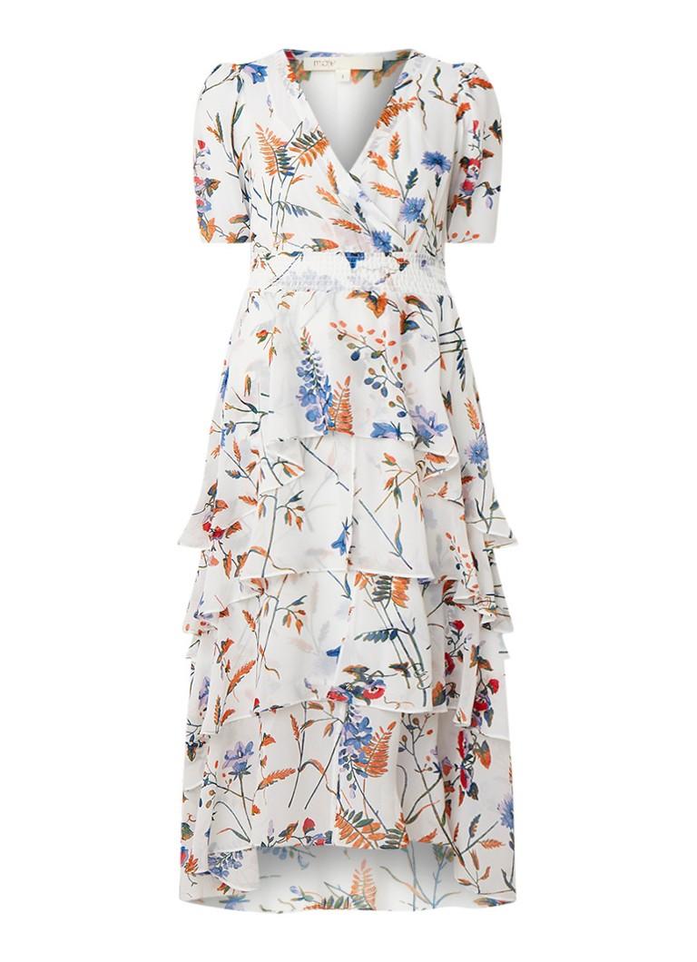 Maje Ruffle maxi-jurk met bloemendessin en volant multicolor