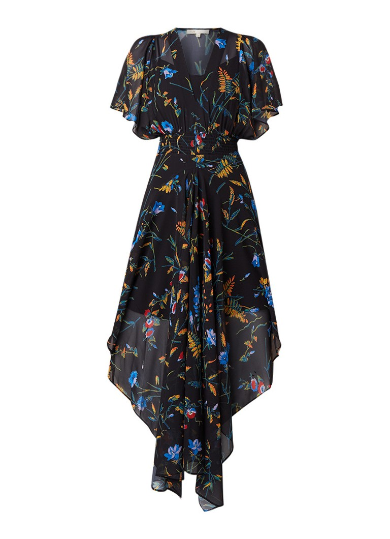 Maje Richelle maxi-jurk met bloemendessin zwart
