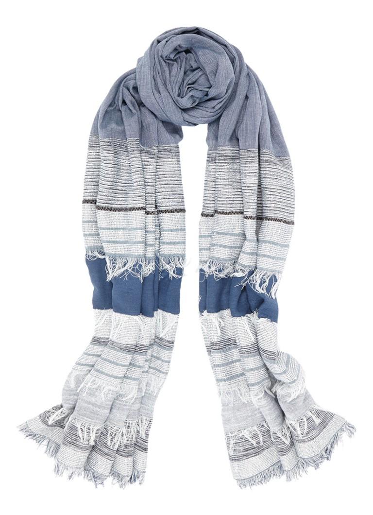 Expresso Annemijn sjaal van katoen 210 x 80 cm zwart