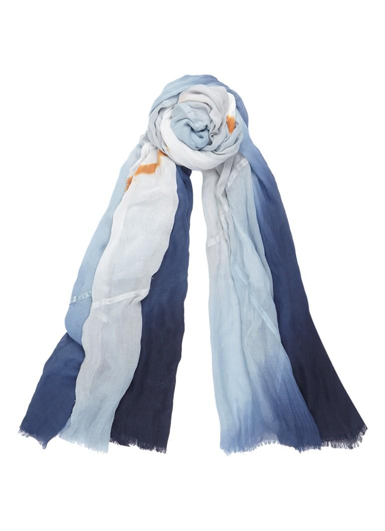 Expresso Arabella sjaal met kleurverloop 195 x 115 cm zwart