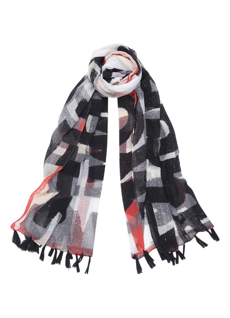 Expresso Breah sjaal 200 x 80 cm zwart