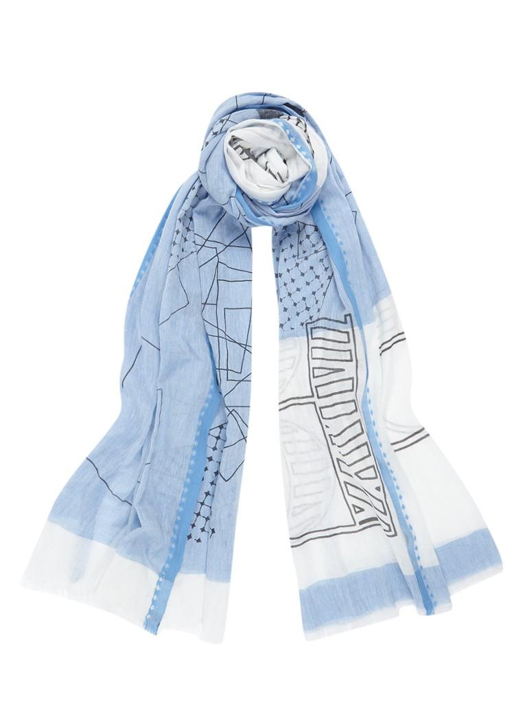 Expresso Dolcy sjaal van katoen 200 x 85 cm zwart