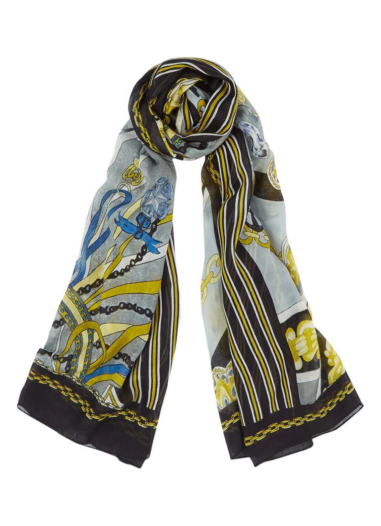 Sjaals Expresso King sjaal met dessin 200 x 75 cm Multicolor