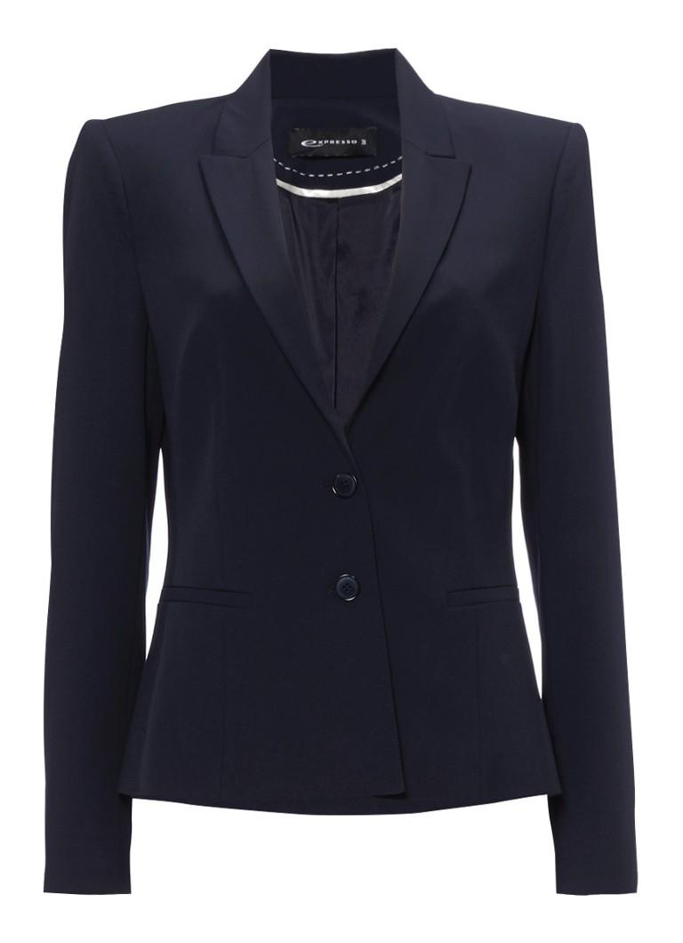 Expresso Xana klassieke blazer in donkerblauw zwart