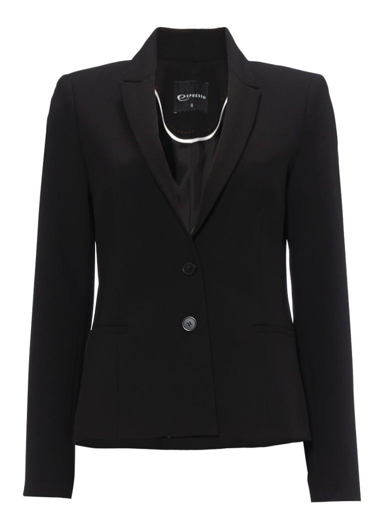 Expresso Xolia klassieke blazer in zwart zwart