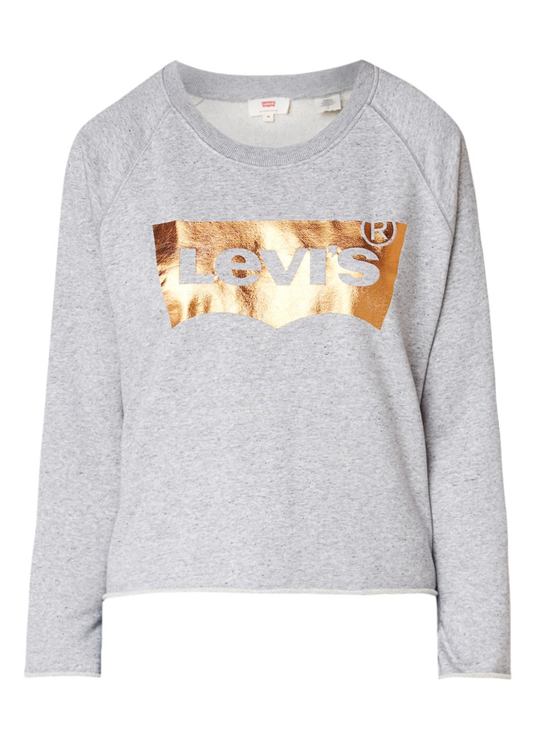 Levi's Batwing sweater met metallic logoprint