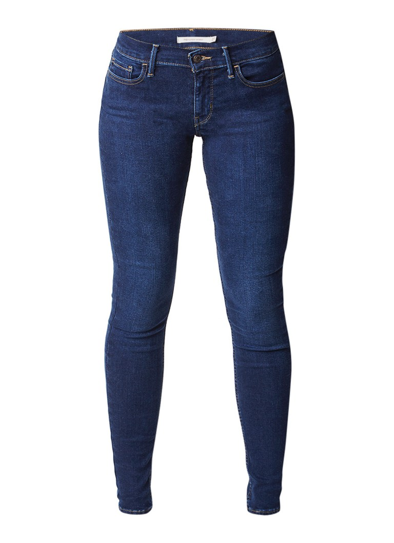 Levi's 710 Innovation mid rise super skinny essent jeans