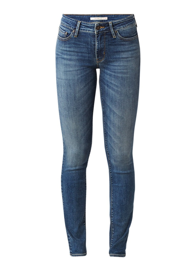 Levi's 711 Antiqued mid rise skinny jeans
