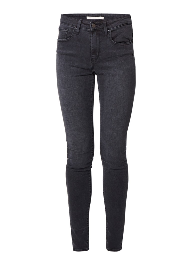 Levi's 721 high rise skinny fit jeans met donkere wassing
