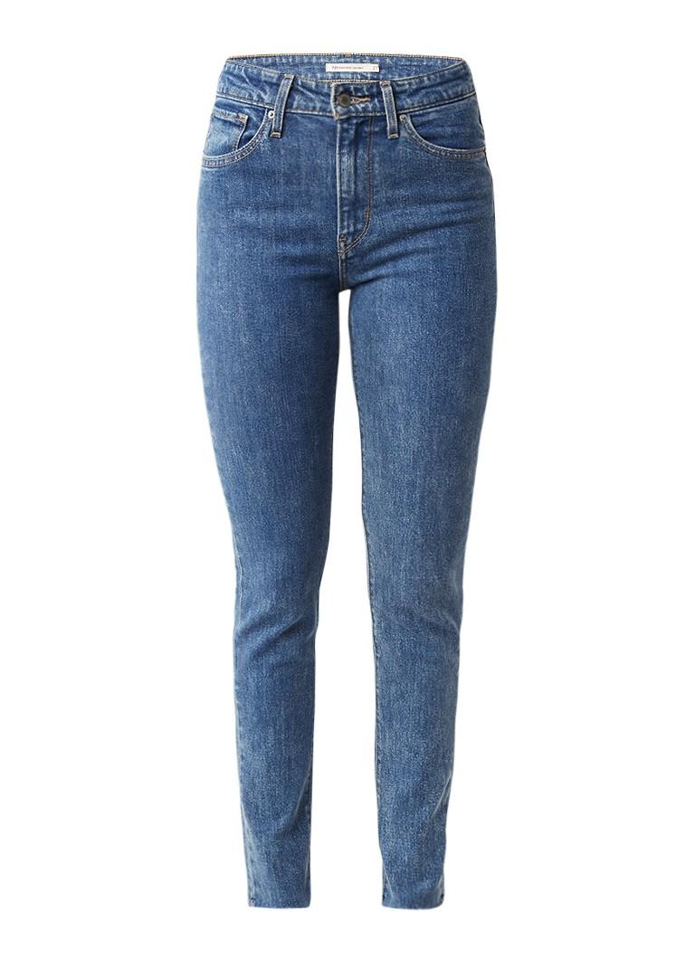 Levi's 721 high rise skinny jeans met gerafelde zoom