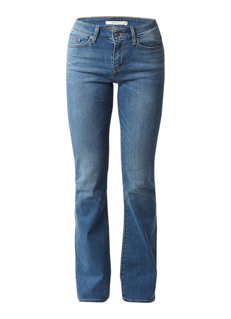 Levi's 715 mid rise bootcut jeans east side