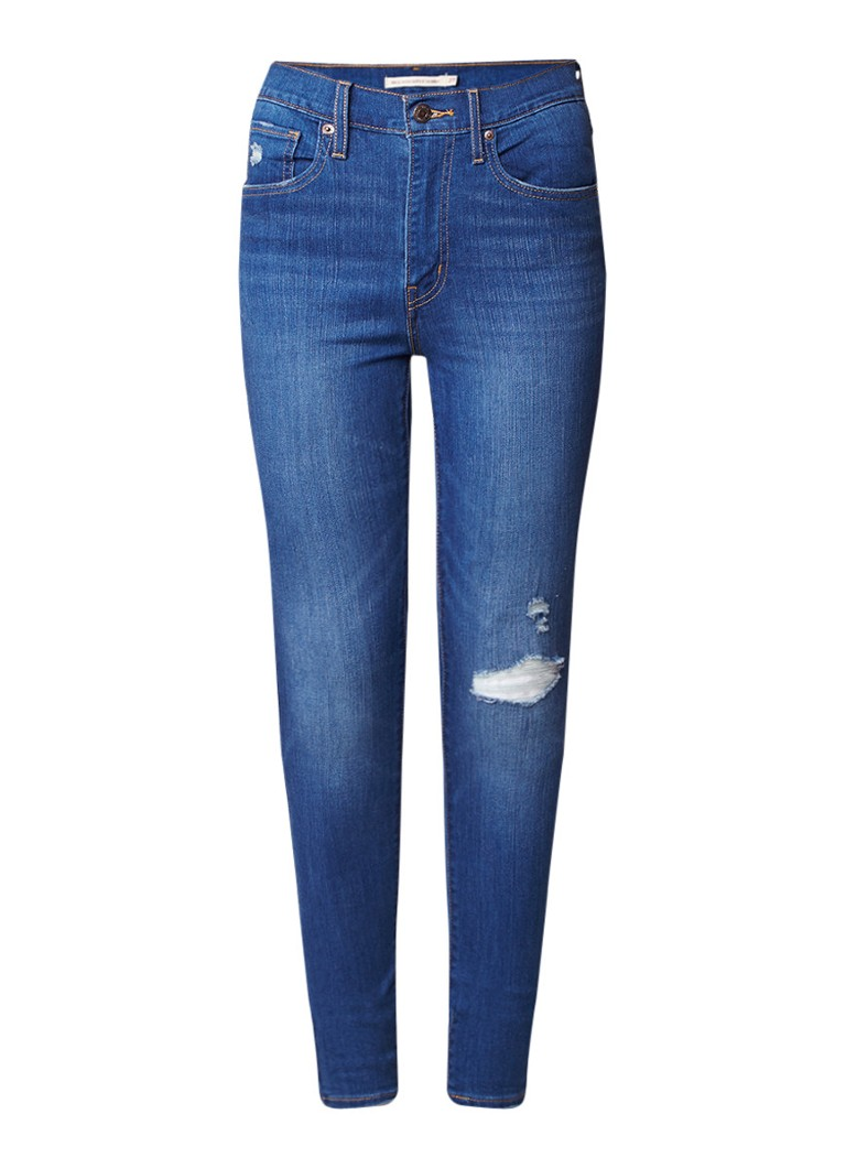 Levi's Mile High super skinny fit jeans met destroyed details