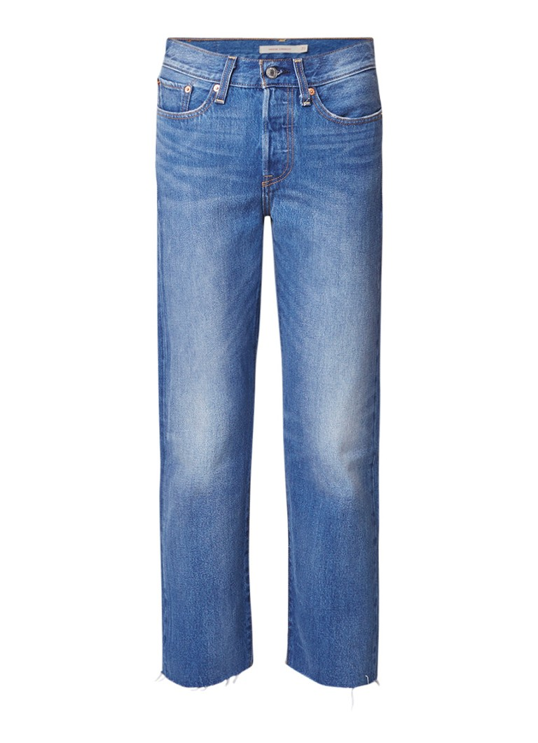Levi's Wedgie high rise straight fit cropped jeans
