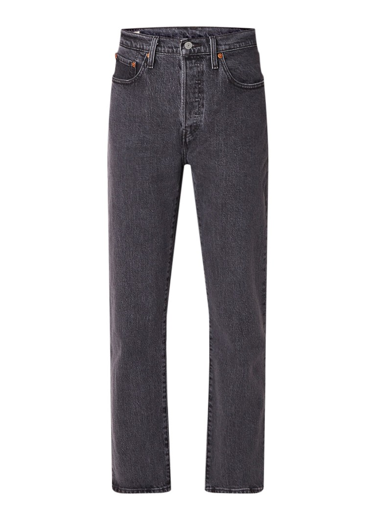 Levi's 501 high rise cropped straight fit jeans