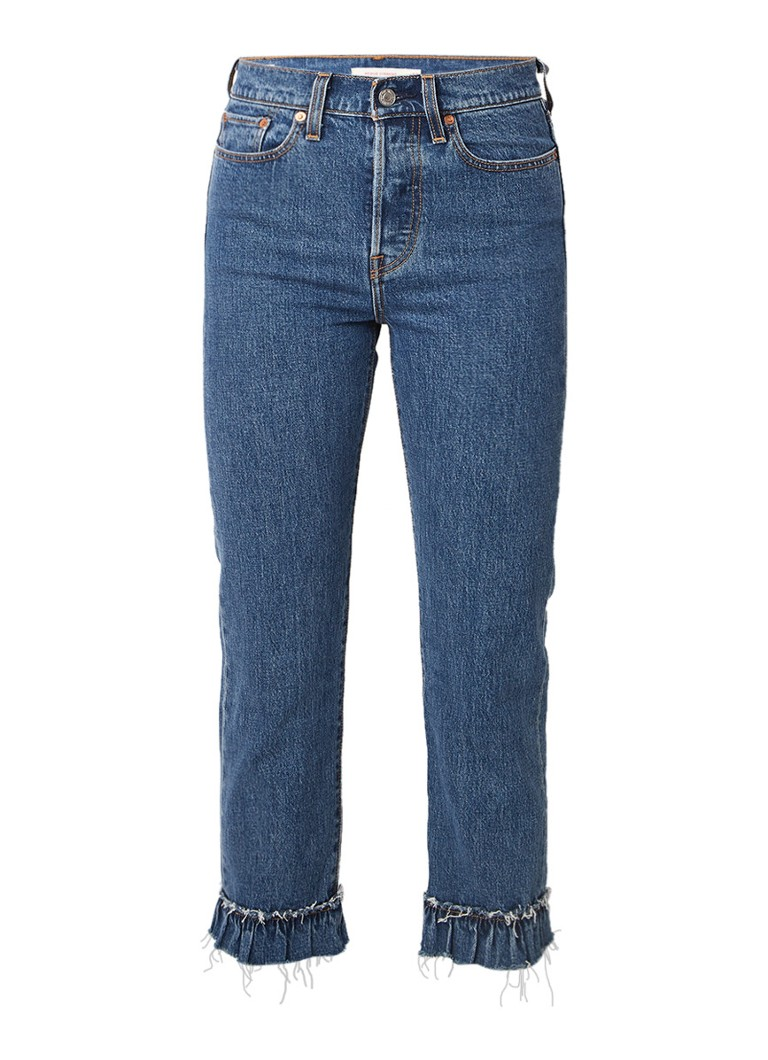 Levi's Wedgie Ruffle My Feathers jeans met geplooide zoom