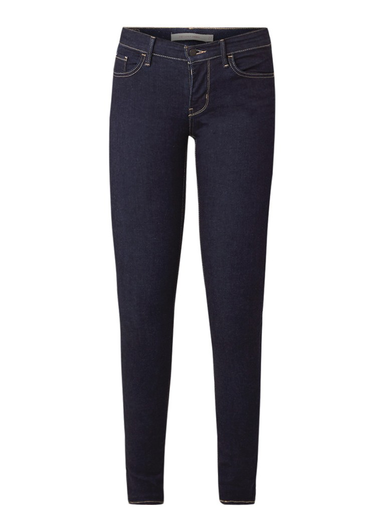 Image of Levi's 710 Mid rise super skinny jeans met donkere wassing