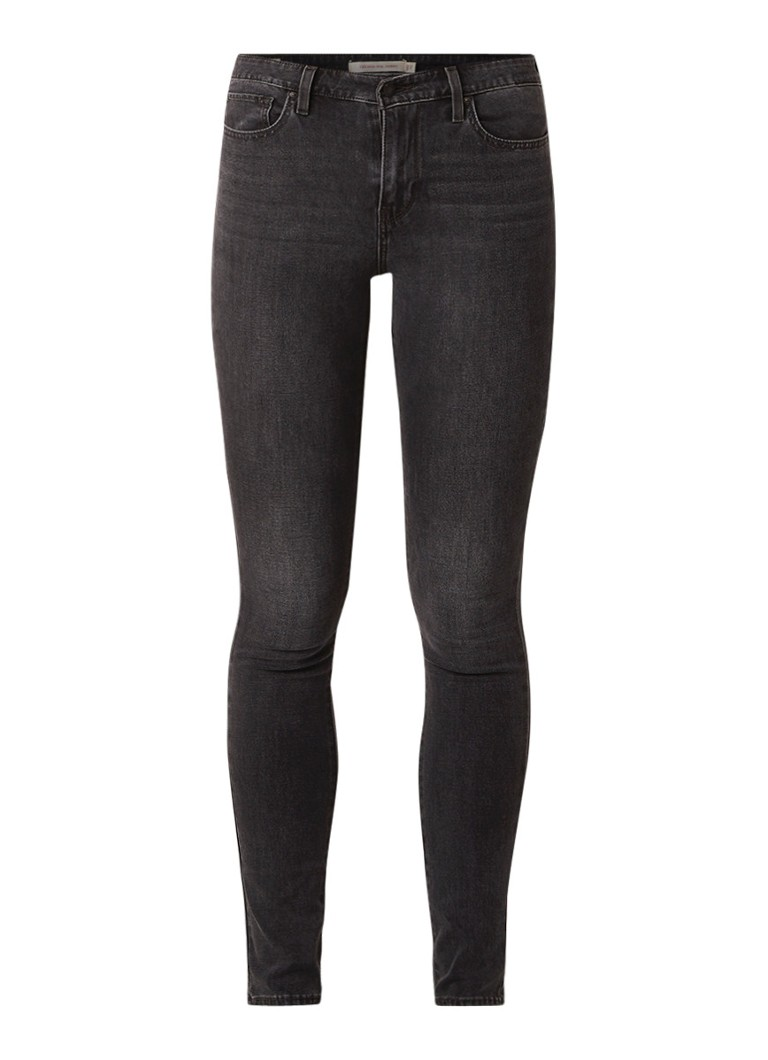 Image of Levi's 721 High rise skinny fit jeans met donkere wassing
