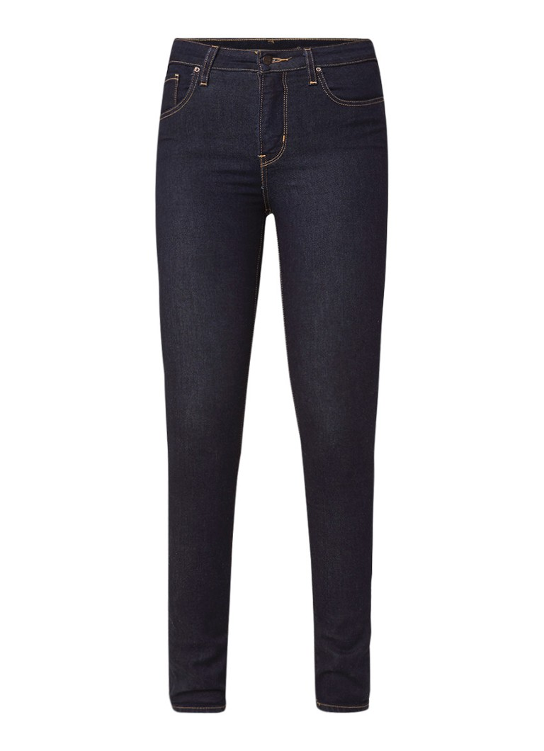 Image of Levi's 721 high rise skinny jeans met donkere wassing