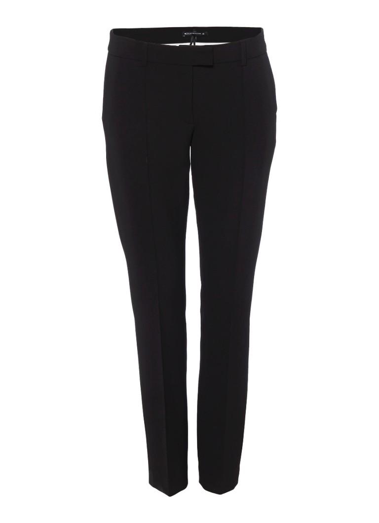 Expresso Xaan 7/8 pantalon met deelnaden in zwart zwart